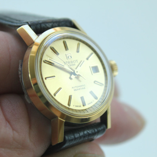 TISSOT SEASTAR AUTOMATIC GOLDCOLOR VINTAGE UNUSED SWISS MADE