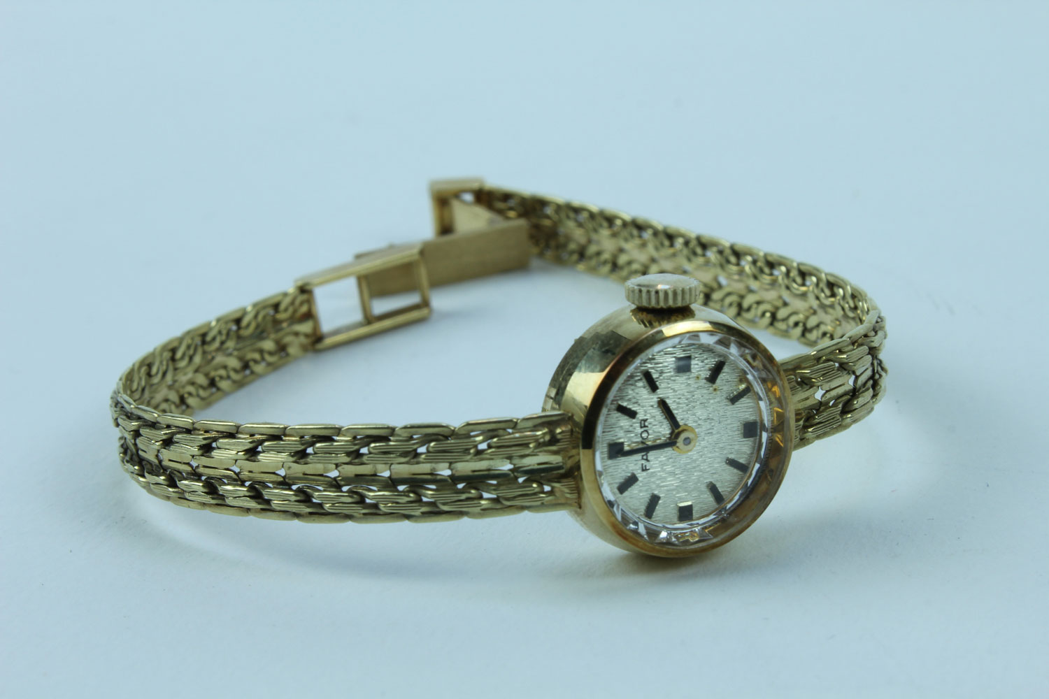 FAVOR LADYWATCH GOLD 585 HANDWINDING EXCLUSIVE VINTAGE UNUSED