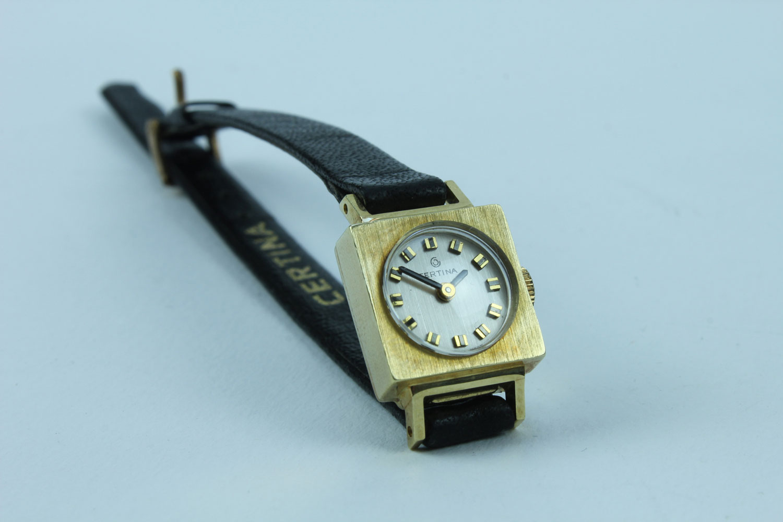 CERTINA SWISS MADE LADYWATCH 585 GOLD HANDWINDING VINTAGE UNUSED