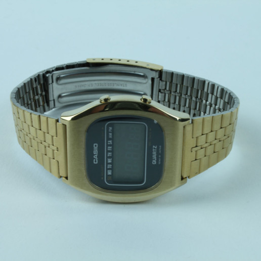 CASIO QUARTZ GOLDCOLOR COLLECTOR ITEM VINTAGE UNUSED